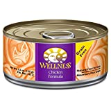 Wellness Grain-Free Chicken Canned Cat Food, 155 g Cans (Pack of 24)