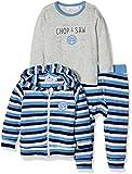 Dirkje Baby-Jungen 31V-23097H Unterwäsche-Set, Grau (Dark Stripe + Light Grey Melee), 50