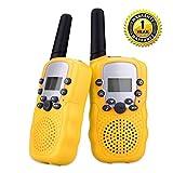 QZT T-388 Satz von zwei Walkie Talkie für Kinder 8 Kanal mit LED-Kontrollleuchte - Gelb