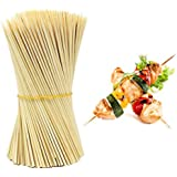 HOKIPO Bamboo Skewer Stick Set, 8-inch - 90-100 Sticks