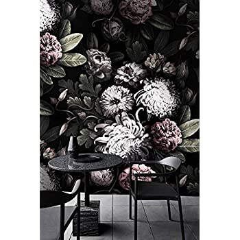 Dunkle Blumentapete Dunkle Blumen Tapete Amazonde Baumarkt
