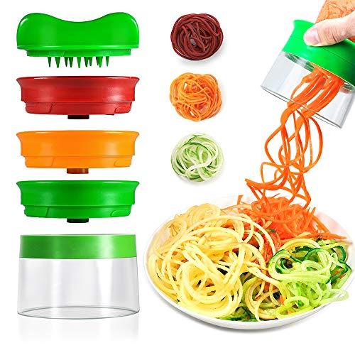 Il affettatrice a spirale di opamoo è un dispositivo perfetto e piccolo per la cucina, può rendere deliziosi e deliziosi spaghetti vegetariani, salutari e ambientali, risparmiando tempo prezioso in cucina.  Con pochi colpi di scena, trasforma le tue ...