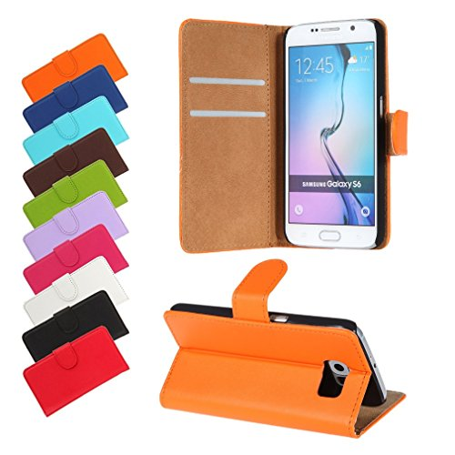 BRALEXX A12634 Bookstyle Tasche für Samsung Galaxy S6 920F orange