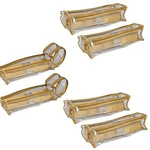 PrettyKraftsBangle Box Roll Set of 6 Travel Bangle case, Bangles Organiser_Golden