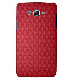 PrintDhaba RED PATTERN D-6298 Back Case Cover for SAMSUNG GALAXY J7 (Multi-Coloured)