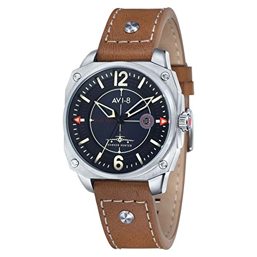 AVI-8 AV-4039-02 Mens Hawker Hunter Tan Leather Strap Watch