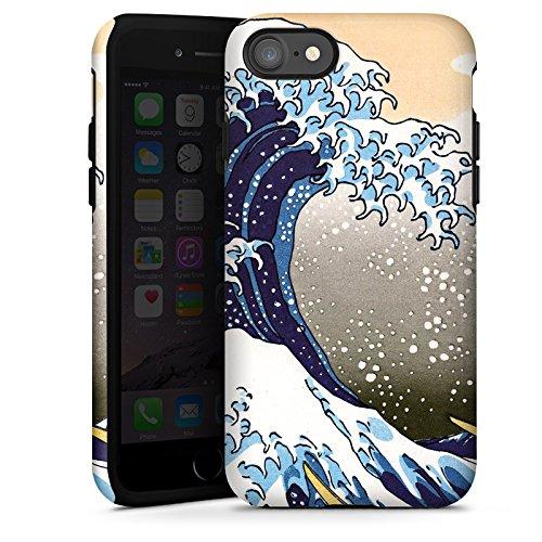 Apple iPhone X Silikon Hülle Case Schutzhülle Katsushika Hokusai Japan Kunst Tough Case glänzend