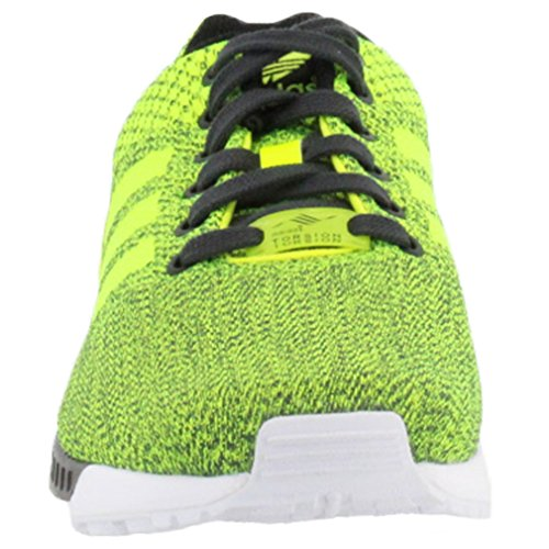Adidas Youths ZX Flux Mesh Trainers Black / Solar Yellow / White