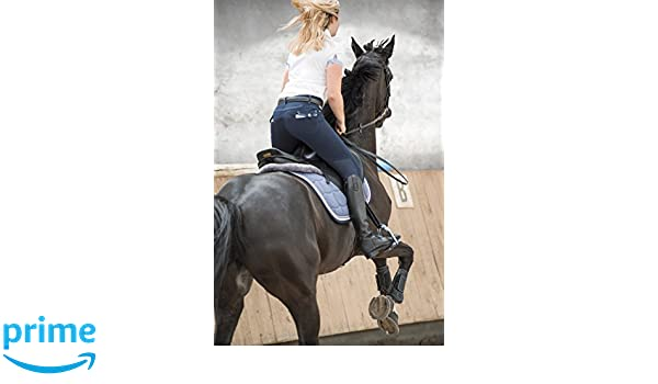 One Size Navy//White Topstitching Equi-Theme//EquitM Unisexs 979100710 Pull-On Breeches