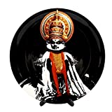 "KOLORBIA DANCES OF INDIA KATHAKALI INSPIRED HOME DÉCOR WALL PLATE 10"""