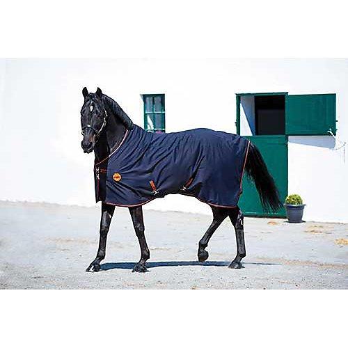 Horseware Rambo Ionic Fleece Abschwitzdecke Black/Orange wählbare Größe (155)