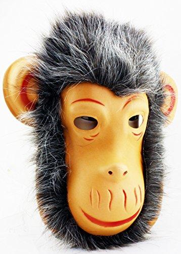 Affenmaske Affe Halloween Maske Monkey Maske mit Haar (GYD) (Affe Halloween Maske)
