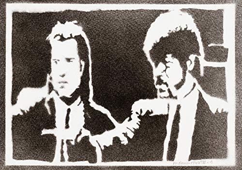 Póster Pulp Fiction Grafiti Hecho A Mano - Handmade