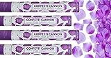 Mayfield Living Konfetti Kanone 4er Set Rosenblätter Rosenblüten Lila 40cm Confetti Shooter