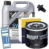 Ölwechsel Set Inspektion 5L Liqui Moly Special Tec 5W-30 Motoröl + HENGST Ölfilter + Öl Ablassschraube Verschlussschraube