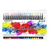 Pennarelli Acquerellabili 20 Colori e 1 Pennello Punta Morbida Flessibile, Penne Acquerello Perfette Per Libri Da Colorare, Disegno, Calligrafia