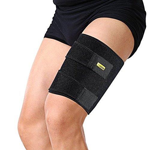 Yosoo Oberschenkelbandage, Verstellbare Neopren Oberschenkel Bandage für Sehnen Tendinitis Muskelverletzungen reha und erholung, Passend für Männer und Frauen