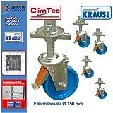 KRAUSE Arbeitsgerüst-Fahrrollen ClimTec höhenverstellbar, 4er-Satz 0 m