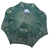 HCFKJ 4-16 Holes Automatic Folding Fishing Net Shrimp Cage Nylon Foldable Crab Fish Trap Cast Net Cast Folding Fishing Network (E)