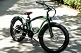 MONSTER - Ist das Fat Elektrobike - Is The Electric Fat Bike - Rahmen: Alu Hydro TB 7005 - Räder: 26 ' - Shimano Alivio 6-Gang - Shimano Alivio 14-28 Zähne (GREEN FOREST)