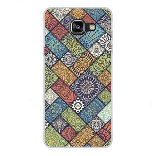 Todo Phone Store Custodia Cover [Disegno] Silicone TPU Gel [Tessitura 007] per [Samsung A5 (2016) A510F]