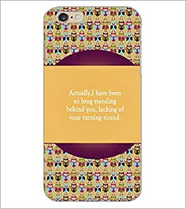 PrintDhaba Girl Face D-5720 Back Case Cover for APPLE IPHONE 6S PLUS (Multi-Coloured)