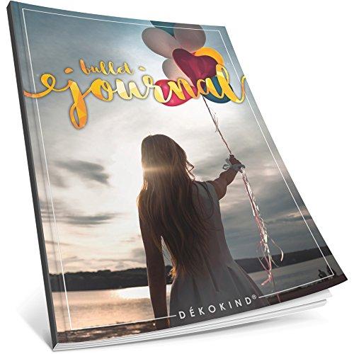 Dékokind® Bullet Journal: Ca. A4-Format • 100 Seiten, Punktraster Notizbuch mit Register • Dotted Grid Notebook, Punktkariertes Papier, Zeichenbuch • ArtNr. 33 Freedom • Vintage Softcover