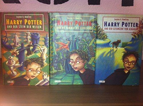 Harry Potter Band 1 - 3 (Harry Potter und der Stein der Weisen + Harry Potter und die Kammer des Schreckens + Harry Potter und der Gefangene von Askaban)