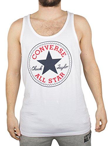 Converse Uomo Largo Logo Stamp Vest, Bianco, X-Large