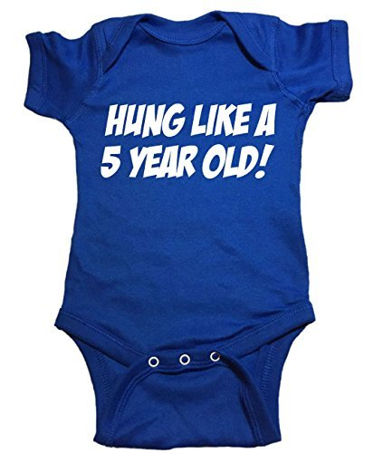 16b92247db 16% OFF on Funny Baby One Piece Hung Like A 5 Year Old Bodysuit (6 month on  Amazon