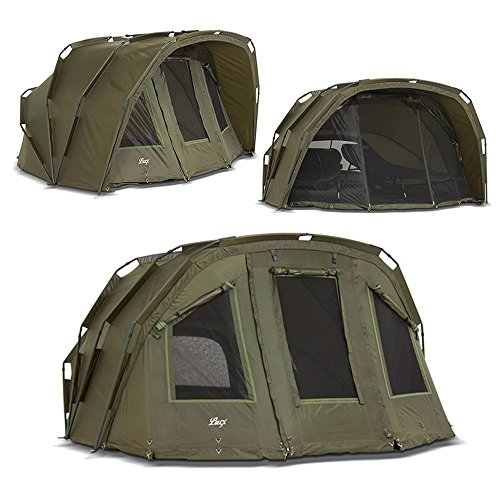Lucx® Bivvy Tiger 1-2 - 3 Mann Angelzelt - Karpfenzelt - Carp Dome - 2 or 3 Man Carp Fishing Tent - Campingzelt