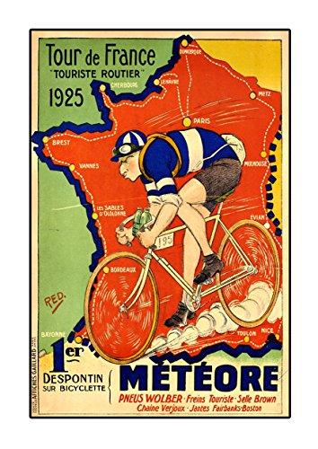 1925 Poster (Tour de France 1925 Poster, Vintage, Foto, Fahrrad, Mode, Grafikbild, Schwarz-Weiß, Foto, Old, Retro, Druck, Oldschool)
