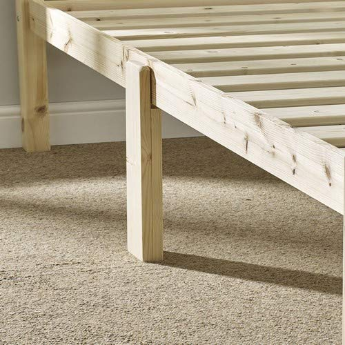 HEAVY DUTY Double 4ft 6 Pine Bed Frame - Includes centre rail and centre leg