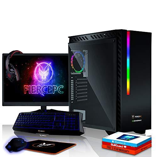 Fierce Apache High-End RGB Gaming PC Bundeln: 4.2GHz 4-Core Intel Core i7 7700, 1TB SSHD, 8GB, GTX 1060 6GB, Win 10, Tastatur (QWERTY), Maus, 24-Zoll-Monitor, Headset 474236