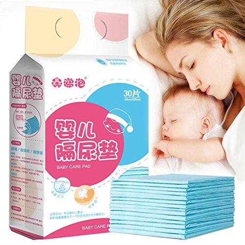 Pueri 30pcs Cambiadores Pañales Desechables para Bebés Almohadillas Absorbentes Urinales para Bebés...