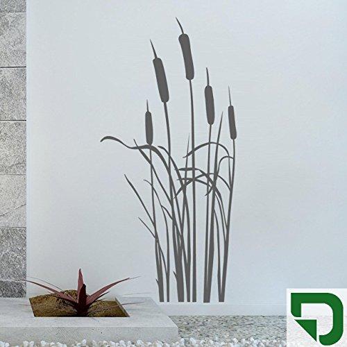 DESIGNSCAPE® Wandtattoo Schilfgras - Schilf - Schilfgräser 43 x 90 cm (Breite x Höhe) grasgrün DW804041-S-F27