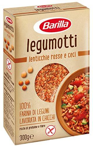 Barilla - Legumotti Lenticchie Rosse e Ceci - Ricchi di Proteine e Fibre - Senza Glutine - Pacco da 300 gr