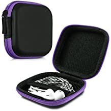kwmobile Estuche rígido para In-Ear auriculares en violeta - Estuche de alta calidad para tus auriculares