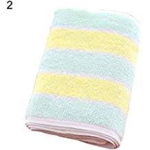 Homeofying - Toalla Gruesa de algodón a Rayas Suave para absorción de Agua, Toalla de
