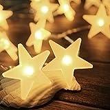 InnooLight 3m 30er LED Lichterkette mit Batterie mit Sterne Warmweiß als Innen Beleuchtung Batteriebetriebene Lichterkette Weihnachtsbeleuchtung für Garten, Wohnungen, Hochzeit, Weihnachtsfeier usw.