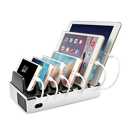 MixMart-Estacion-de-carga-de-6-puertos-40W8A-Cargador-portatil-de-viaje-para-iphone77PlusSamsung-Galaxy-y-tablets