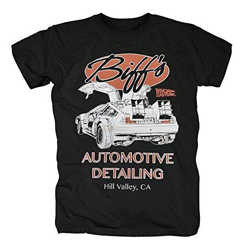 ukunft - Biffs Automotive Detailing T-Shirt Herren XXL Schwarz (In Dieser Stadt Des Halloween)
