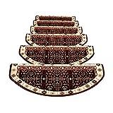 Stufenmatten - Hochwertige Stufenmatten,Attraktiver Stufenschutz Für Ihre Treppe,Matten Für Rutschsichere Treppenaufgänge 5 Stück L (Farbe : B, größe : 75 * 24cm)