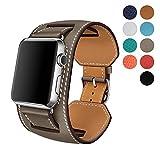 WAfeel Bracelet pour Apple Watch Bracelet Series 3 42mm 38mm de Cuir  Véritable pour Usage 486f013646c