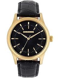 Reloj hombre JEAN Bellecour y pulsera de cuarzo reloj negro 42 mm negro piel jb1053