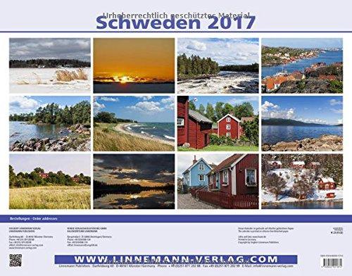 Schweden 2017 Großformat-Kalender 58 x 45,5 cm: Sverige - Sweden: Alle Infos bei Amazon