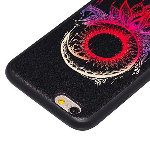Cozy Hut Handy-Hülle für Apple iPhone 6S / 6 (4,7 Zoll) weiß / Rein schwarz | Ultra Slim Cover für Apple iPhone 6S / 6 (4,7 Zoll) Schutz Hülle TPU Case Schutzhülle Silikon Smartphone Case Tasche Dünn  Rote Sonnenglocken