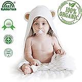 HyAdierTech Accappatoio Neonato, Asciugamano con Cappuccio per Bambini, Extra Large Telo da Bagno, 100% Bambù Organico Cotone Soffice, Assorbente e Traspirante, Carina Design, Unisex