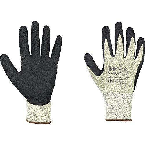 LEMAX® Work Schnittschutz-Handschuh CutKnit® ESD, NY/GF, Nitril-beschichtet, Größe 8