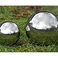 Stainless Steel Mirror Sphere Garden Ornament 18cm